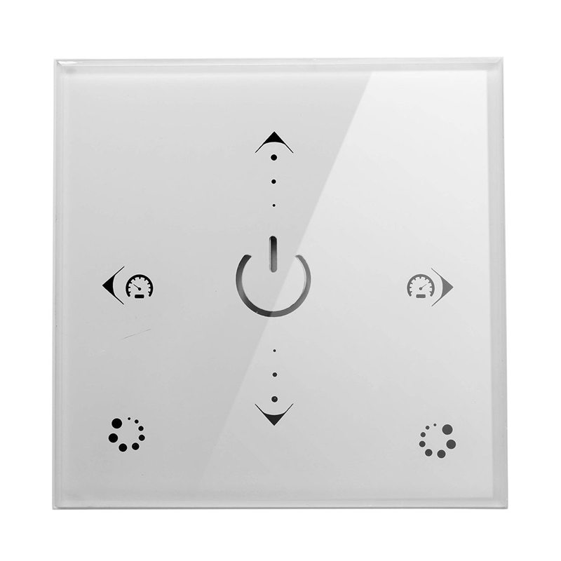 DIY Home Lighting New DC12V LED Cntroller Full-Touch Wall Panel RGB Controller 3 Channels Easy-Operation Dimmer Switch(China (Mainland))