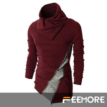 Livraison gratuite nouvelle veste Collision couleur hommes chandail de couverture mince MenTurtleneck traction Homme coton Maglione Uomo hommes vêtements(China (Mainland))