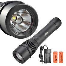New Portable CREE XM-L U2 1600 Lm LED Underwater/Diving LED Flashlight/Torch 200m+5000mAh (China (Mainland))