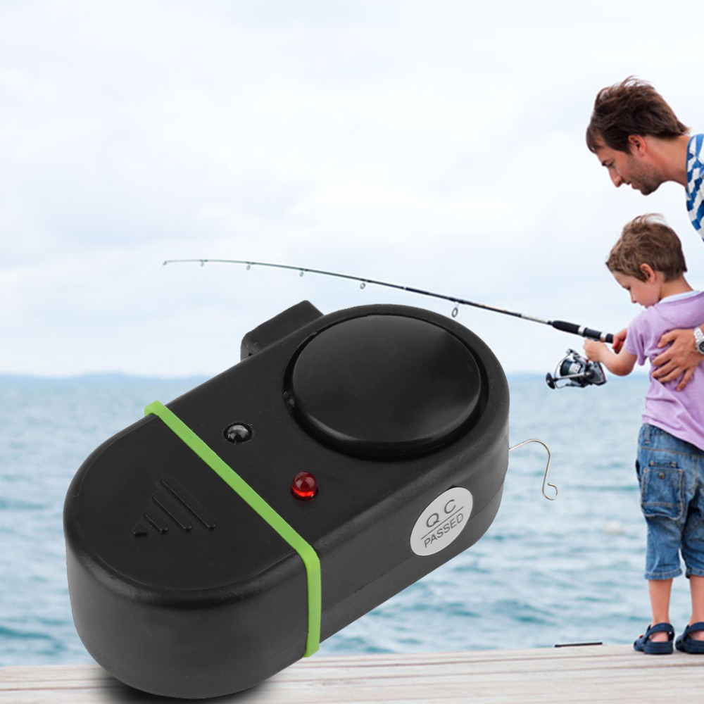 New Electronic LED Light Fish Bite Sound Alarm Bell Clip On Fishing Rod  free shipping<br><br>Aliexpress