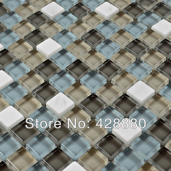 stone glass mosaic tiles crystal glass tile sheets kitchen