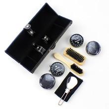 Luxury 9 Pcs/Set Leather Shoes Care Tool Kit Polishing Brush Set Painting Oil Equipment Shoes Cleaning TOO(China (Mainland))