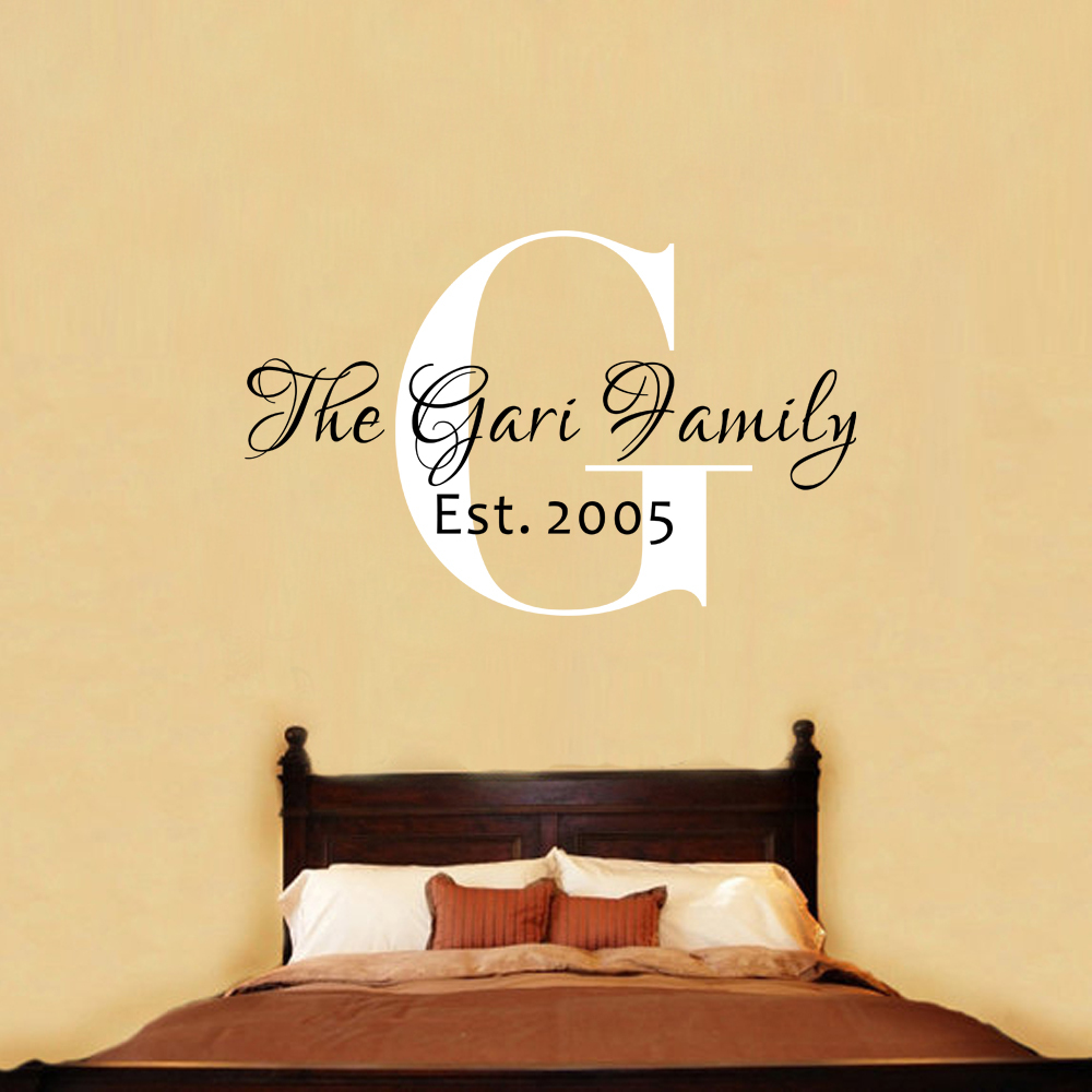 Family Established Wall Decor: Family name vinyl wall decal ...