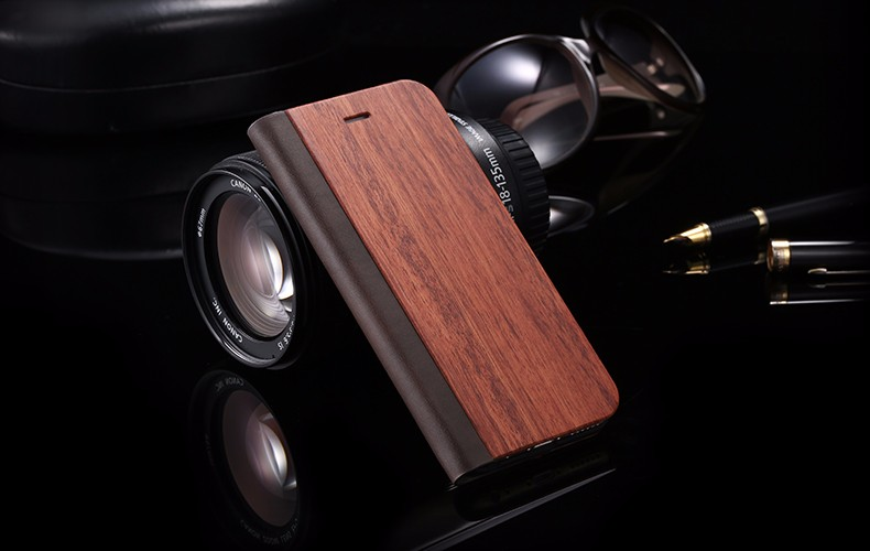 Vintage Genuine Bamboo Wood Flip Leathe Case For iPhone 6 6S Plus Real Rosewood Wooden Wallet Cover For iPhone 7 7 Plus Card Slot  (13)