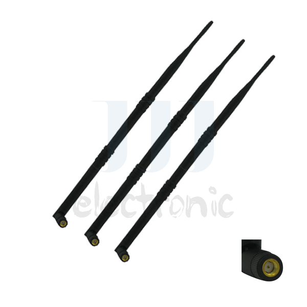 3pcs Free Post Long Rang 9dBi Wireless WiFi Omni Antennas for RT-N16 RT-N66U RT-AC66U AC1750 DIR-655 and more(China (Mainland))