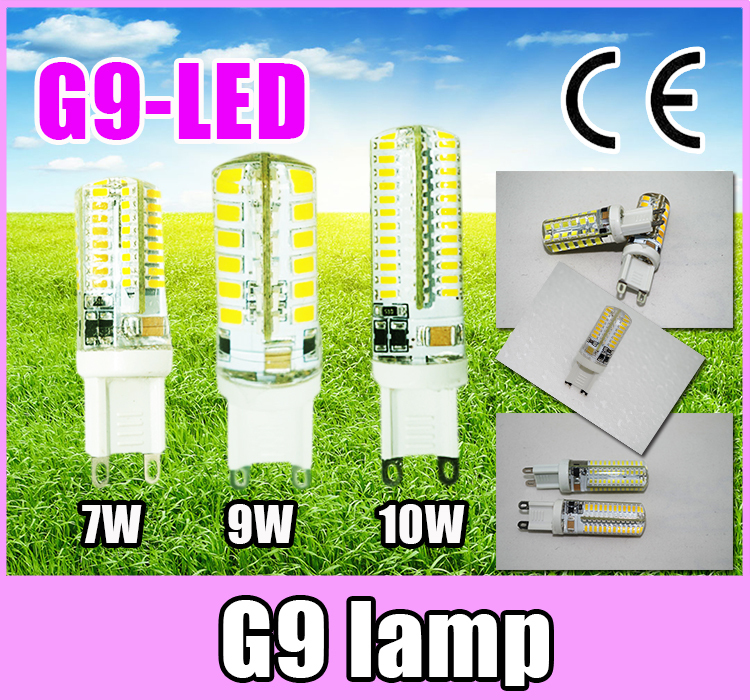1NEW 220V G9 7W 9W 10W Silicone LED Bulb SMD2835 SMD3014 Corn Lamp Spotlight Crystal Warm Cold White - OK-LED store