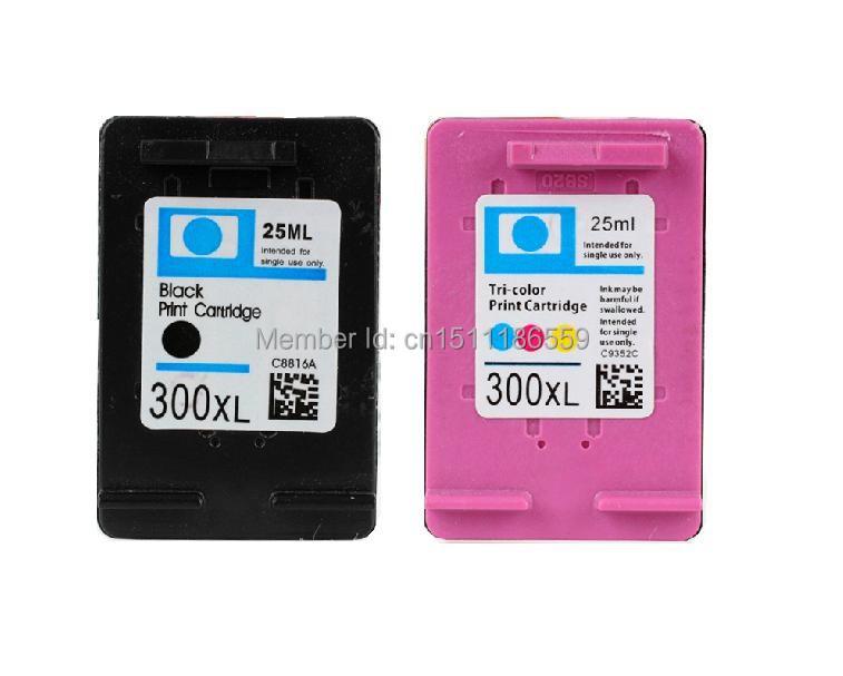 2x Repalced Ink cartridge HP 300 XL (BK+ C) for PhotoSmart C4600 C4610 C4640 C4650 C4670 C4673 C4680 C4683 All-in-One Printer<br><br>Aliexpress