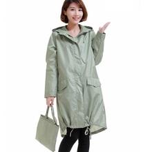Raincoat Women 2016 Fashion Ladies Rain Coat Breathable Ladies Long Raincoats Portable Water-Repellent Raincoat Women