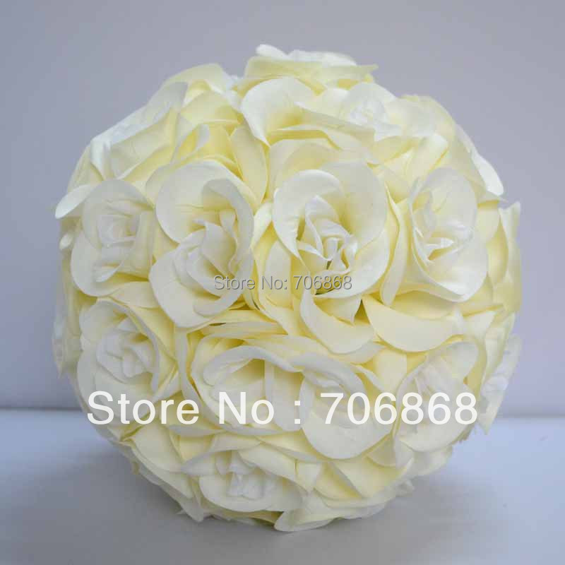 High quality artificial silk rose kissing ball for wedding Church deocration(China (Mainland))