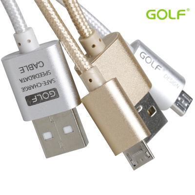 GOLF Alloy braided Micro USB Data Cable For Android Cell Phone Samsung S6 Edge Plus Note 5 note4 LG G4 G3 Sony Z4 Z3(China (Mainland))