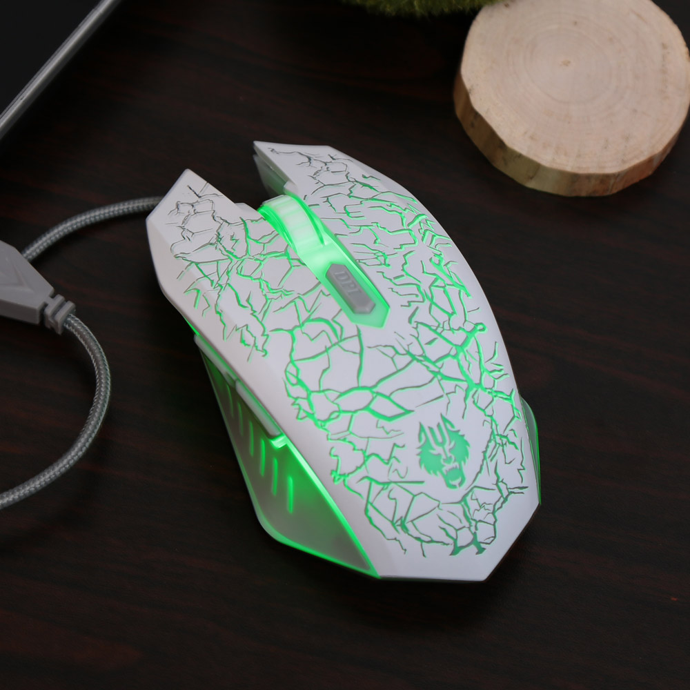 3000DPI 6D Optical USB Wired Pro Gaming Mouse Mice with 6 Buttons 4 Breathing LED Lights for Mac Win XP Vista Linux of PC Laptop(China (Mainland))