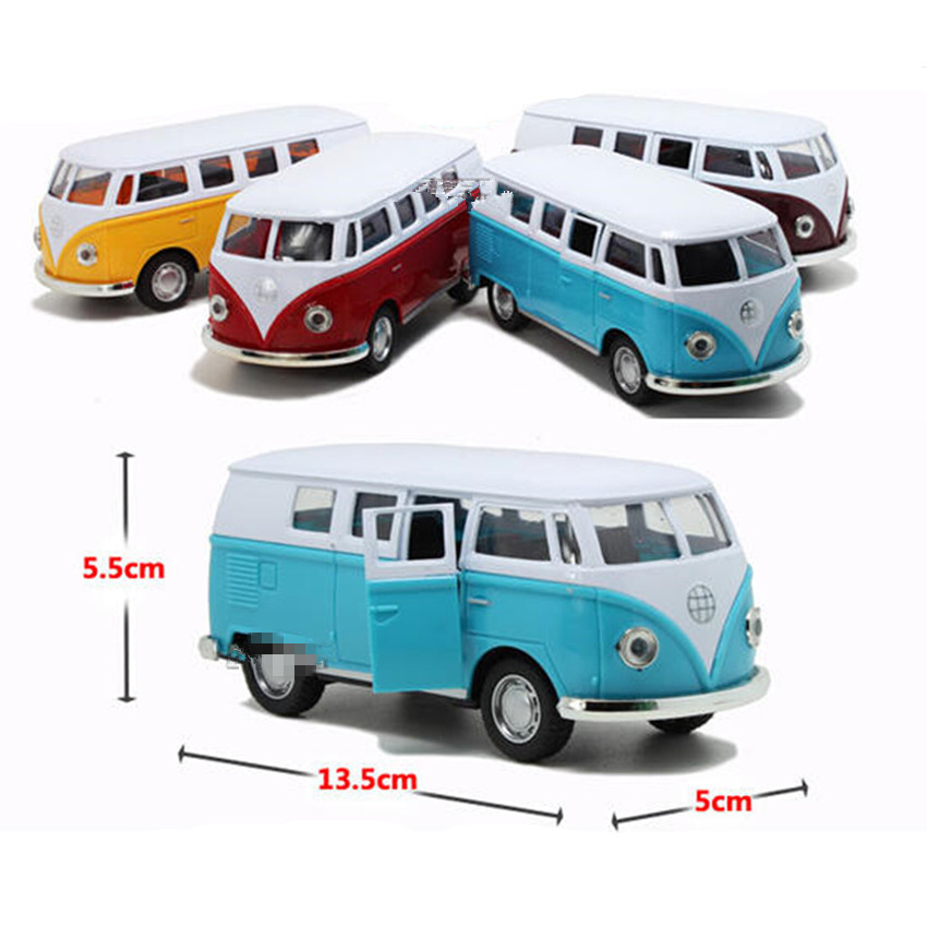 Free Shipping New Style Antique Miniature Cars Alloy Bus Toys for Children's Birthday Present, 4 Color Cute Car Model Kids Toys(China (Mainland))