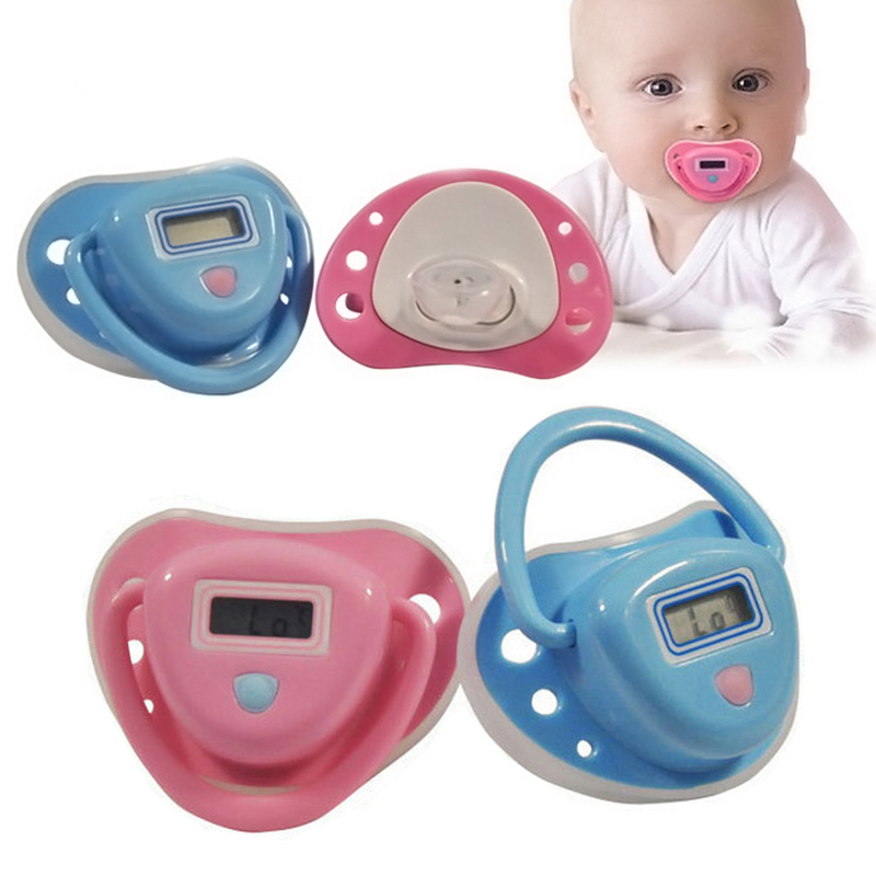2015 Free Shipping! 1PC Pink / Blue Color Infant Baby Digital Dummy Pacifier Electronic Thermometer Soother Trendy Safe #YE1064(China (Mainland))