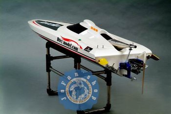 RC Boat, R/C boat, Racing boat, High speed, 48' VEE 26cc gas boat (with QJ engine, with radio)