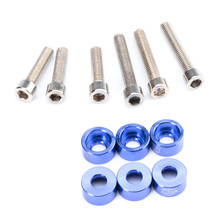 6pcs/lot Blue JDM Car Gasket Screw Compartment Inlet pipe Auto Engine Parts suit Cup Washers For Honda B D F H YA211-SZ