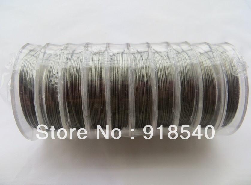 0.45MM Thickness Silver 10 Small Rolls Stainless Steel Tiger Tail Wire for Chunky Necklace Jewelry Findings(China (Mainland))
