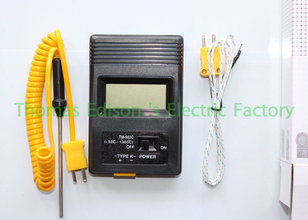 tm-902c temperature meter tm902c digital Thermometer + Thermocouple Probe + Thermocouple Needle Probe(China (Mainland))