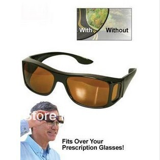 free shipping, HD High Definition Vision Driving Wrap Around Sunglasses Wraparounds Glasses(China (Mainland))