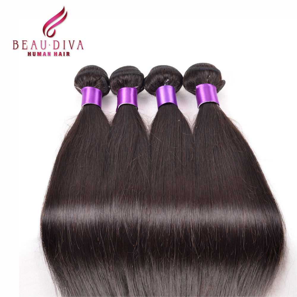 Malaysian Straight Hair 4 Bundles Deals 7a Grade Malaysian Virgin Hair 100g 100% Human Hair Bundles