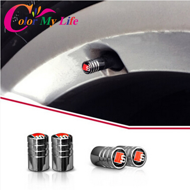 Excellent New car Tire Valve Caps Case For Audi A1 A3 A4 A5 A6 A7 A8 TT Q3 Q5 Q7 S3 S4 S5 S6 Accessories Car Styling(China (Mainland))