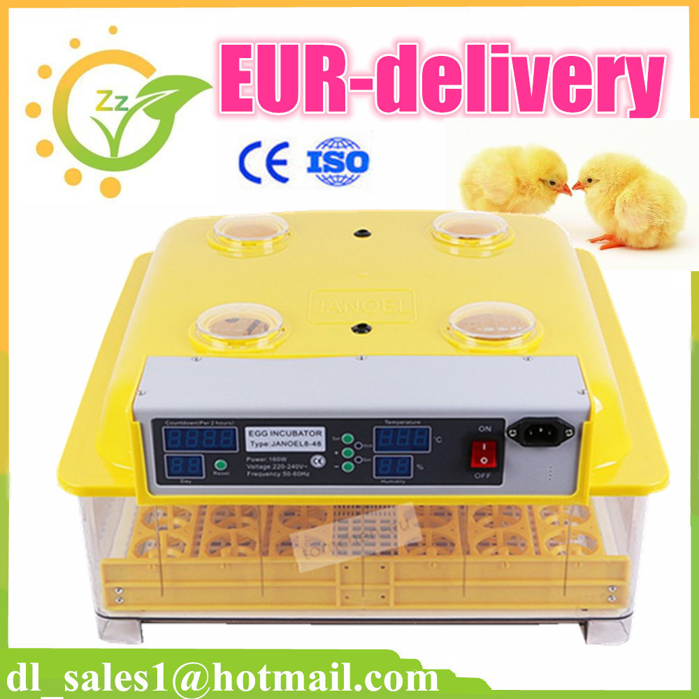 Free shipping to EU ! 2015 High quality poultry incubator machine JN8-48 automatic egg incubator price + candle gift(China (Mainland))