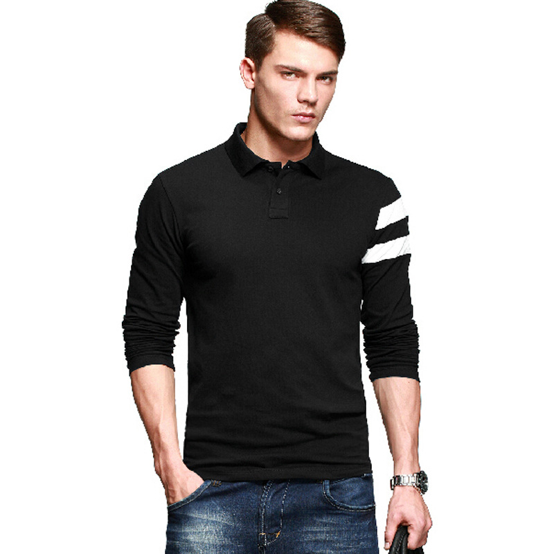 Four seasons 2014 male long-sleeve polo shirt turn-down collar T-shirt men's casual clothing - Jerry's shop store