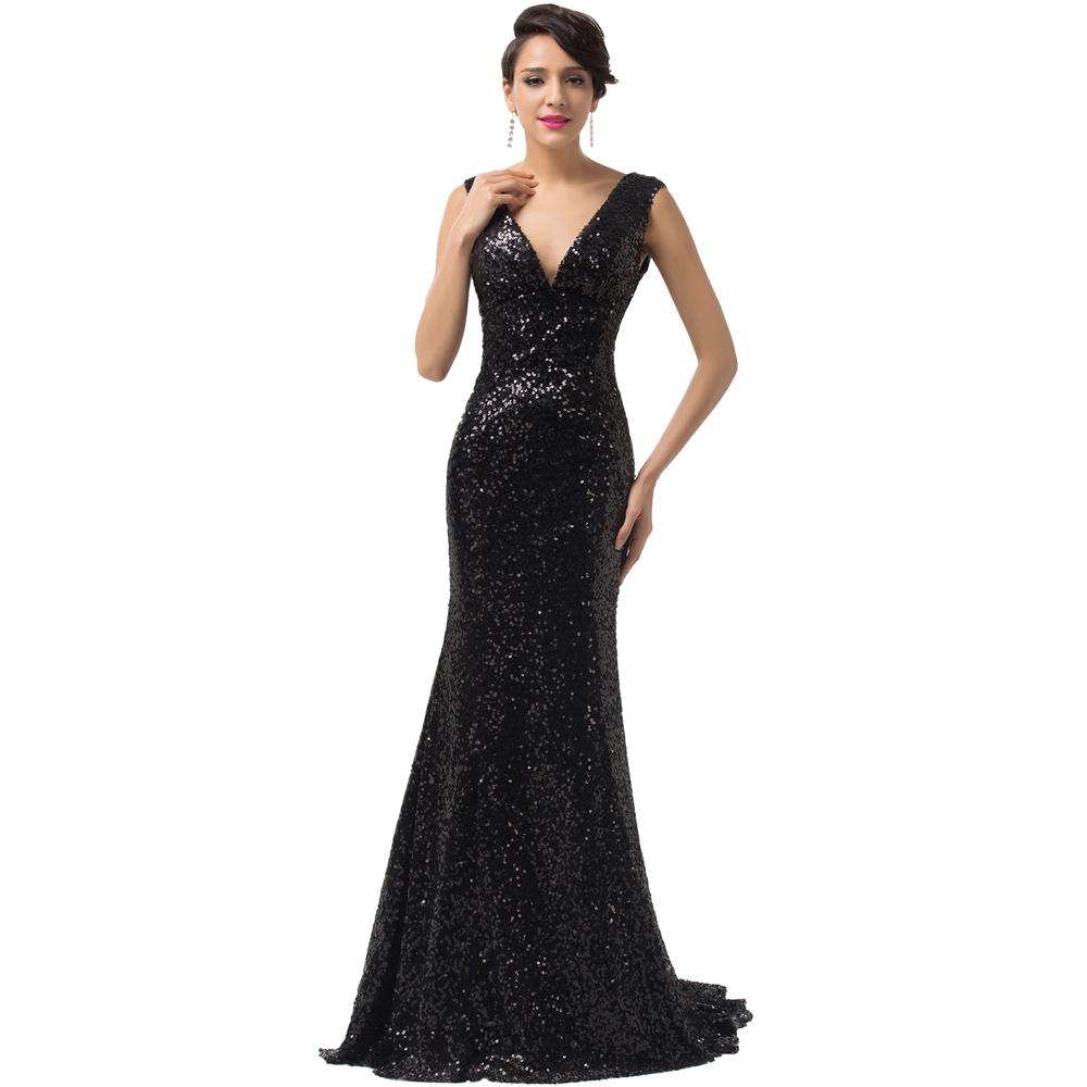 Grace Karin Prom Dresses Fast Shipping Golden/Black/Red/Blue Evening Party Dress Sequins Mermaid Dress Vestido De Festa L6052(China (Mainland))