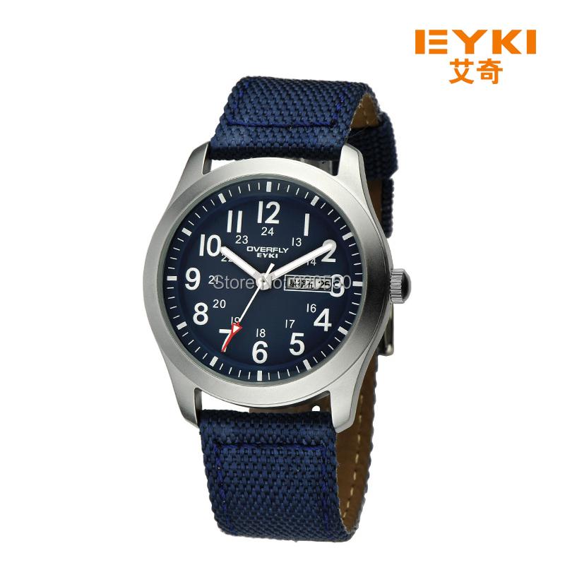 2015 Top Sale! EYKI OVERFLY Men Military Watches Quartz Outdoor Sports Watch Man Canvas Calendar clock,Waterproof Wristwatch - Fashion Boutique-No.1 store