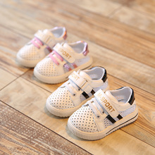 2016 New Summer Baby Girl Boy Shoes Toddler Soft Bottom Breathable Sneaker Children Sports Casual Shoes a Brand Free Shipping(China (Mainland))