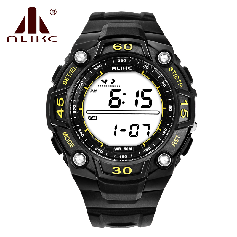 Alike Unisex Sports And Leisure Fashion Calorie Pedometer Watch 50 M Waterproof Analog Digital Electronic Display Wristwatches<br><br>Aliexpress