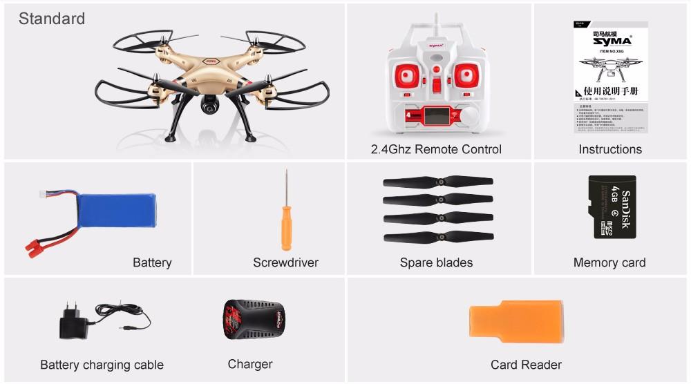 HOT Professional Syma UAV X8HG X8HW X8HC Drone with Camera HD 1080P 8MP HD Camera Quadcopter(SYMA X8C/X8W/ X8G Upgrade)