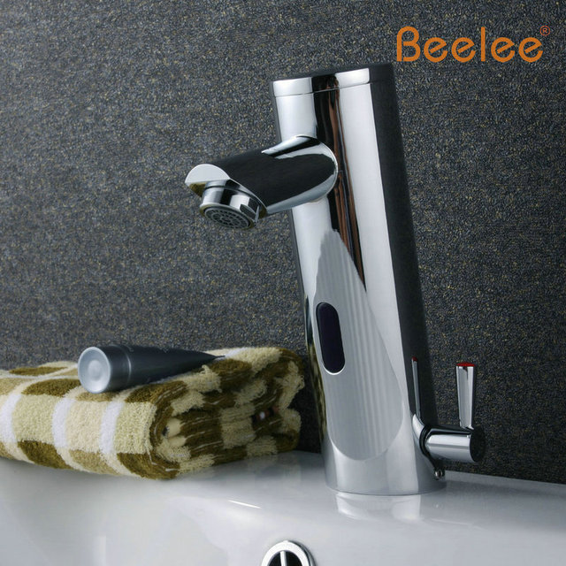 Free Shipping Chrome Infrared Bahtroom Basin Faucet with Automatic Sensor (Cold&Hot) QH0106A
