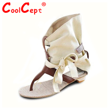 Women Summer Hot Flat Sandals High Ladies Slippers Heel Shoes Sexy Female Gladiator Shoes Women's Fashion Sandals Size 34-43(China (Mainland))