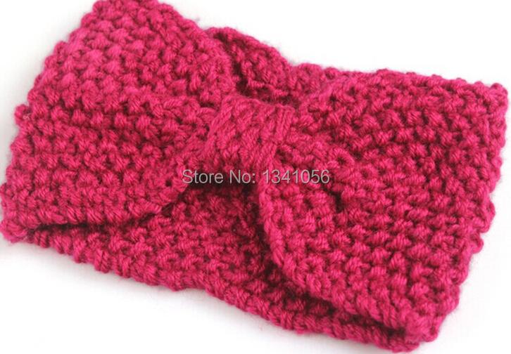 2pc/lot many colors Winter Crochet Flower Bow ear Warmer Headband (C007)(China (Mainland))