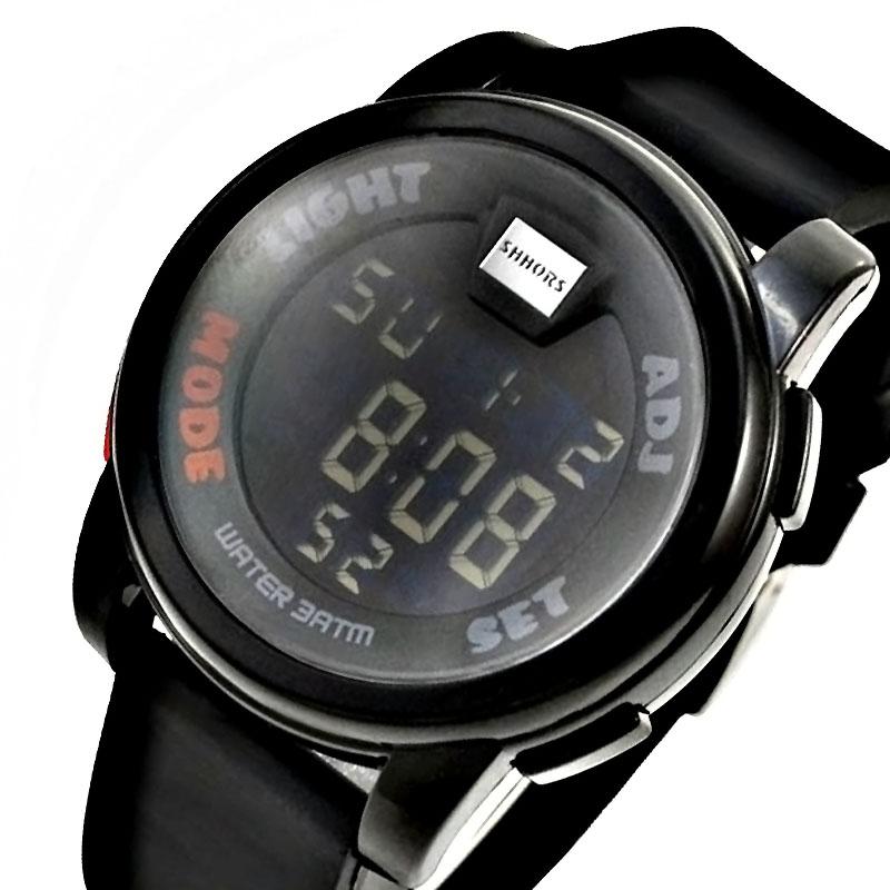 cheap shhors digital watches green led