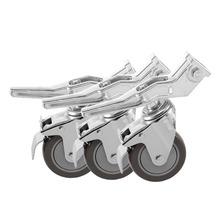 Meking 360 Degree Swivel Photo Studio Caster Locking Wheel with Brake Lock for Light Stands Boom or Other Photo Studio Equipment