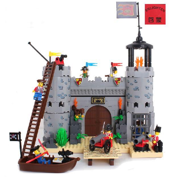 Enlighten Building Blocks Pirate Castle Rob Barrack Educational Construction Bricks Hot Toys Boy Model Ktis - C&T store