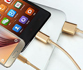 High quality 3 in 1 Double 8 Pin Micro USB Data Charge Cable For iPhone 5