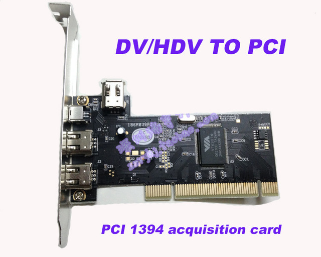 2017 new DV/HDV TO PCI 1394 Video Capture Card HD video capture Video acquisition card with cable for DV HDV Camera(China (Mainland))