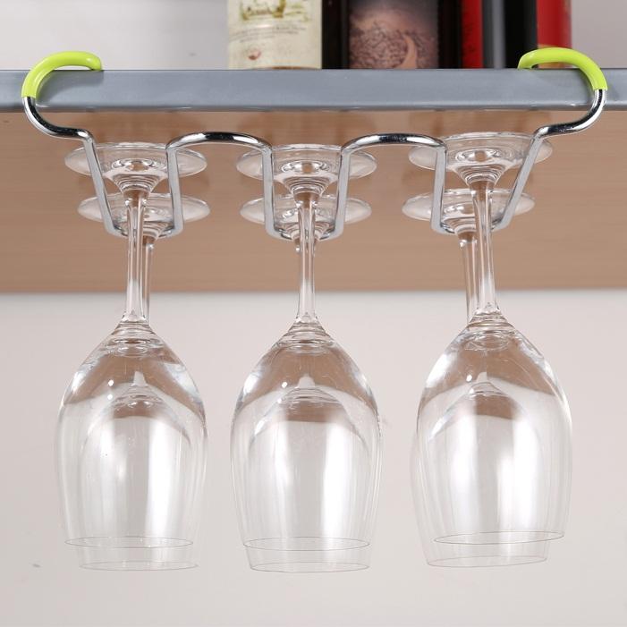Bar en verre suspendu racks promotion achetez des bar en - Porte verre suspendu bar ...