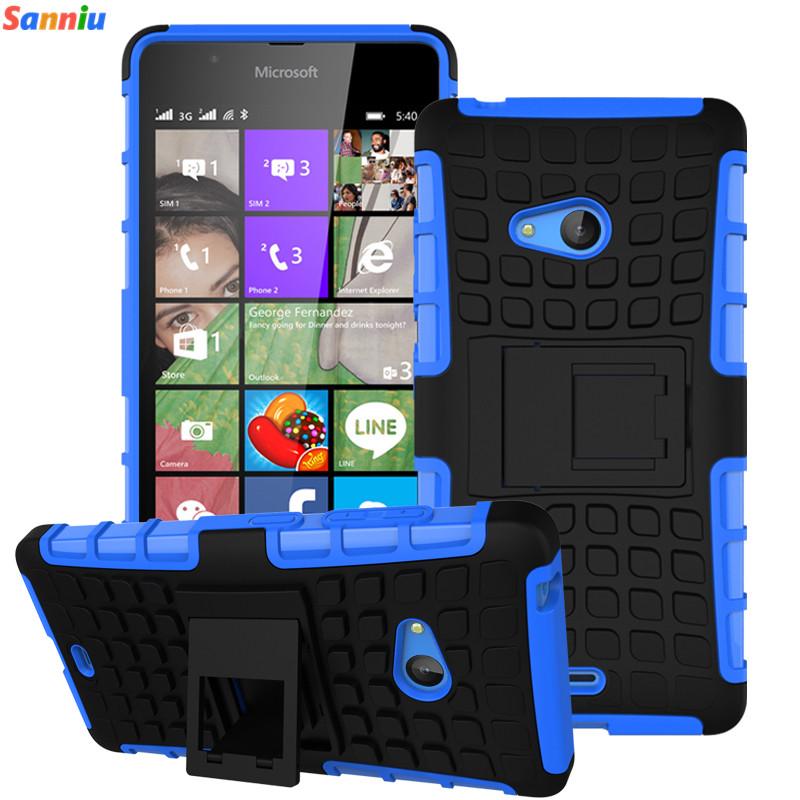 Sanniu Rugged Armor Heavy Duty Hybrid TPU Stand Impact Hard Case For Microsoft Nokia Lumia 540 Shock Proof Cover Phone Cases(China (Mainland))