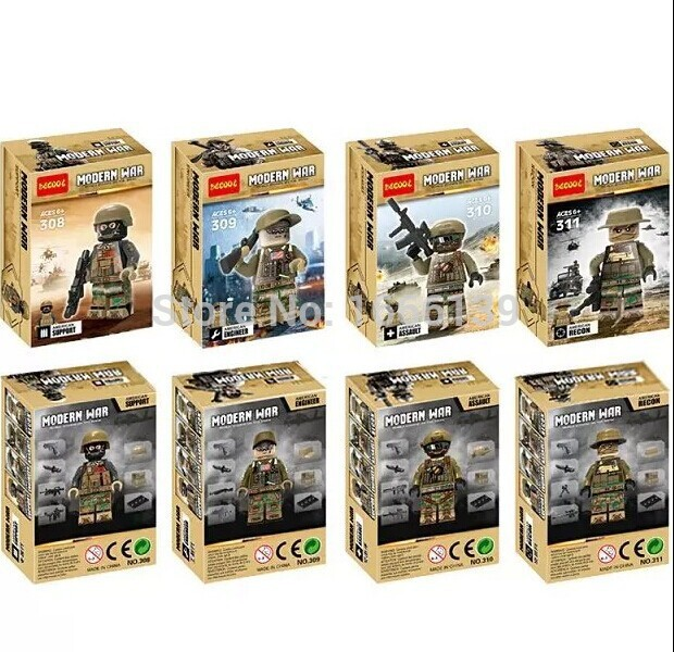 decool 2016 Police SWAT army Minifigures weapons building blocks Counter Strike Force figures Enlighten Bricks Toys - best toys for you store