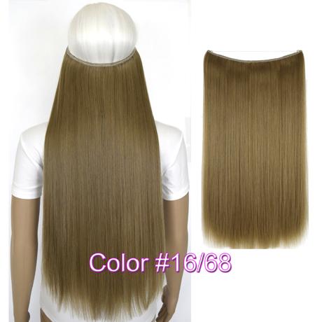 """Верхние термостойкие B5 синтетические волосы 20 """"50 см 50 г эластичность невидимая 16-68"""