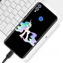 Силиконовые чехлы My Little Pony friendly для huawei Honor Y9 Y5 Y6 Y7 2019 View 20 Pro 10 20 Lite 8X черный мягкий чехол(China)
