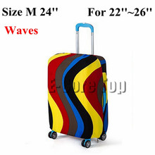 Wholesale Luggage Protective Cover Perfectly Stretch Thick Elastic Size S/M/L Apply to 18~30'' Trunk Cases 6Print Pattern Design(China (Mainland))