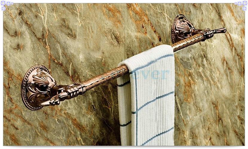 Фотография Solid Brass rose Golden single owel Bar,Gold Towel Holder Rack Tail RG008b-2 single cold basin faucet mixer single