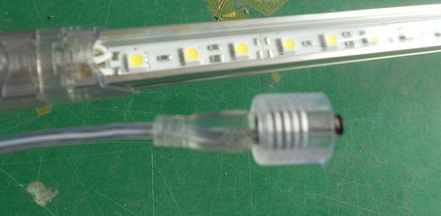 LED Rigid bar with PC cover,0.5m long,30pcs 5050 SMD,DC12V input