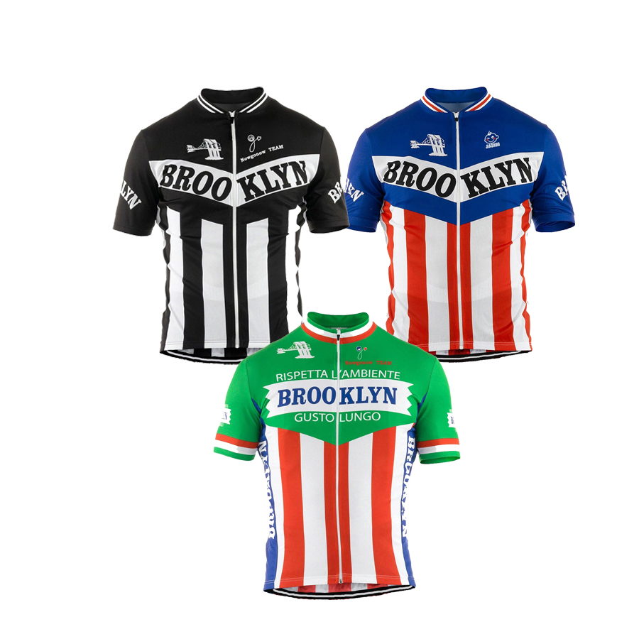 Men cycling jersey white black green jersey sleeve brooklyn cycling clothing summer bicycle clothes mtb/road bike wear Customize(China (Mainland))