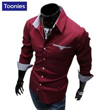 Camisa Социальной Masculina 2017 Новый Бренд Одежда Сорочка Homme Повседневная Бизнес Мужчины Рубашка Однобортный Slim Fit Мужская Рубашка(China (Mainland))