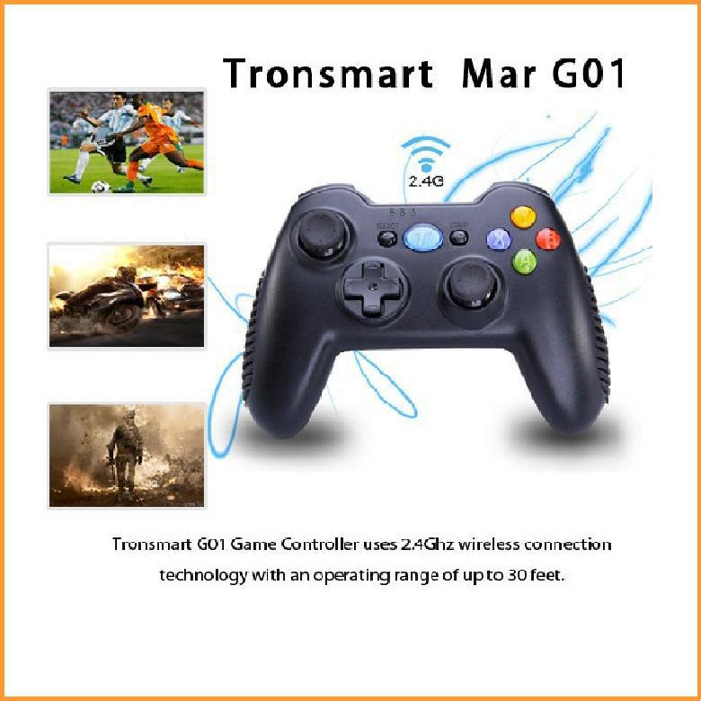Hot Tronsmart Mars G01 2.4GHz Wireless Gamepad for PlayStation 3 PS3 Game Controller Joystick for Android TV Box Windows Kindle(China (Mainland))